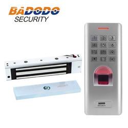 Z zewnątrz linii papilarnych klawiatura drzwi bramy elektrycznej kontroli dostępu drzwi magnetyczne skorzystaj z 180 KG 350lbs 12 V elektryczna blokada w Zamki elektryczne od Bezpieczeństwo i ochrona na