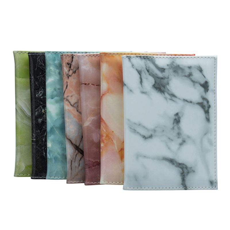 Fashion New Men Women Unisex Marble Pattern Passport Holder Traveling Cover Case Card ID Protector Holders Bag Accessories