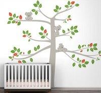 Extraa Large Baby Room Koala Tree Home Decor Wall DIY Nursery Bedroom Wall Sticker Large Koala Tree Branch Decal Mural NY 198