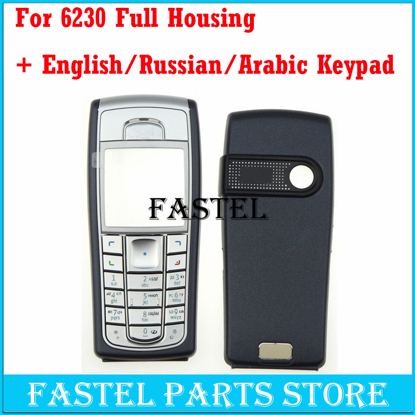 For <font><b>Nokia</b></font> <font><b>6230</b></font> High Quality New Full Complete Mobile Phone Housing Cover <font><b>Case</b></font> + English/Russian/Arabic Keypad With tracking image