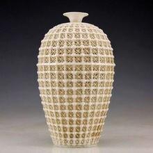 Oriental Vintage Handwork Dehua Porcelain Rare Vase