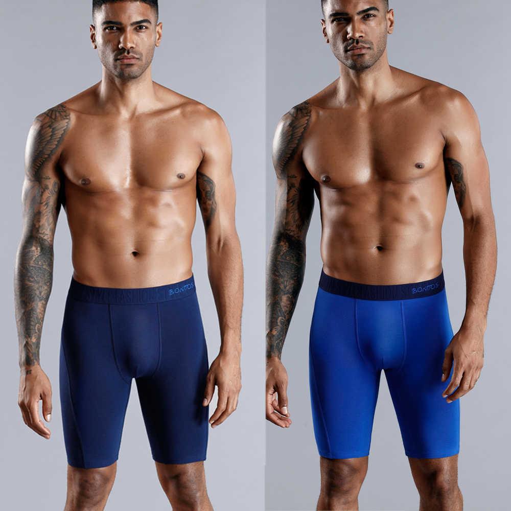לבן מתאגרף ארוך Boxershorts גברים תחתוני גברים מתאגרפים כותנה גברים זכר תחתונים בוקסר סקסי Underware הומו