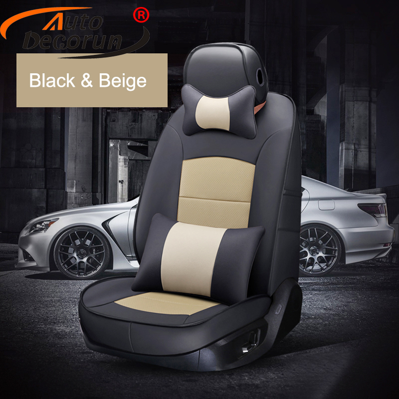 AutoDecorun Cowhide Leather <font><b>Seat</b></font> <font><b>Covers</b></font> for <font><b>Toyota</b></font> Camry <font><b>2007</b></font> Accessories <font><b>Seat</b></font> <font><b>Cover</b></font> Custom Fit Car <font><b>Seats</b></font> Protectors 15PCS/Set image