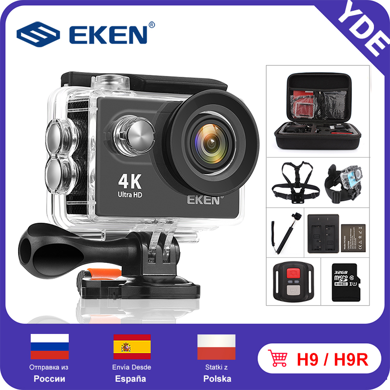 Hot DealsEKEN Action-Camera Mini Waterproof Sport Ultra Hd H9 Remote-Control 4k Wifi Original