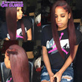 7A Mink Brazilian Virgin Hair Straight 4 Bundles Burgundy Brazilian Hair Weave Bundles 99j Red Human Hair Extensions