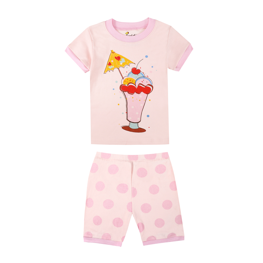 99c9bff8a9a2 Phoebe Cat Short Sleeve Fruit Juice Icecream pajamas for girls boys cars  airplane truck sleepwear children clothing baby suits-in Pajama Sets from  Mother ...