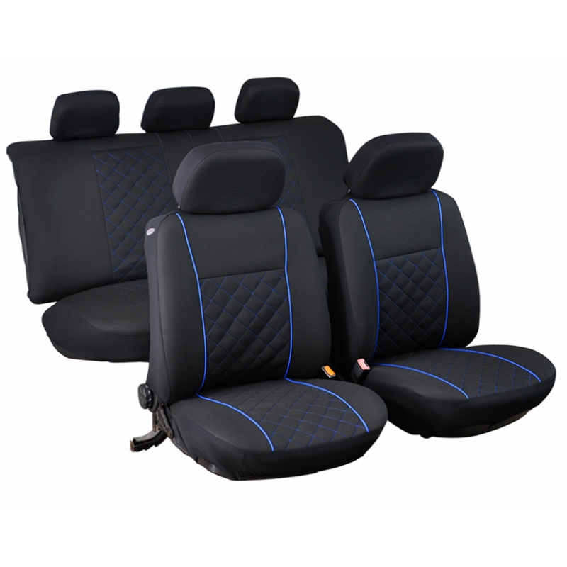 front rear car seat covers blue interior accessories universal for subaru legacy wrx sti hyundai. Black Bedroom Furniture Sets. Home Design Ideas