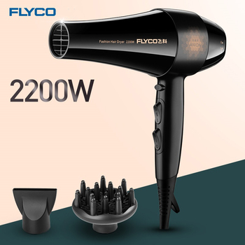 Flyco Professonial Hair Dryer FH6105 Electric Hair Dryer Styling Tools Blow Dryer Low Noise Hair Salon Hot/Cold Wind