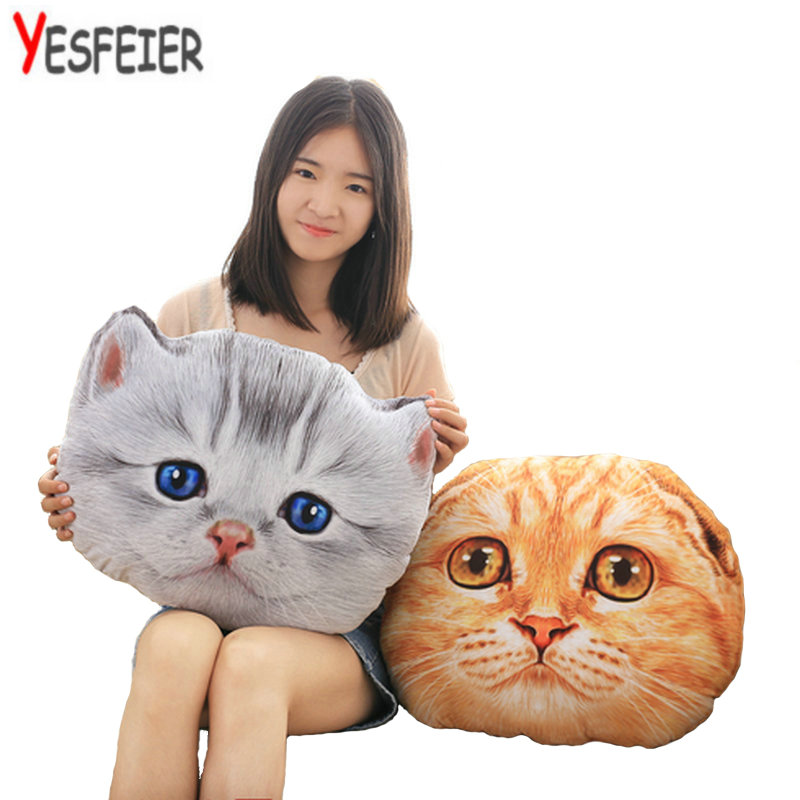 40/50cm Wholesale Cat Plush Toys  Expression cat pillow Soft Cushion Stuffed plush kids doll baby birthday gift 1pc 65cm cartion cute u shape pillow kawaii cat panda soft cushion home decoration kids birthday christmas gift