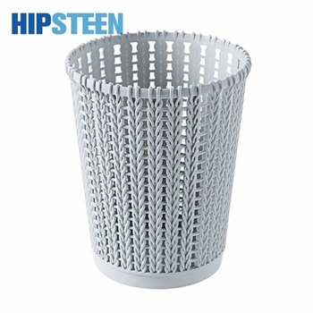 SML Size Imitated Rattan Garbage Bucket Weaving Hollowed-out Trash Can  Plastic Uncovered Rubbish Bin For Household Kitchen Контейнер для мусора
