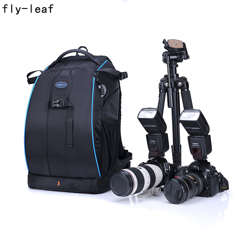 Fly-Leaf 326-B Professional Camera Backpack Waterproof Ultra-Large Capacity Bag Shockproof Digital Camera Bag For DSLR professional eirmai camera bag dslr waterproof backpack capacity 1 dslr 5 lenses accessories laptop tripod