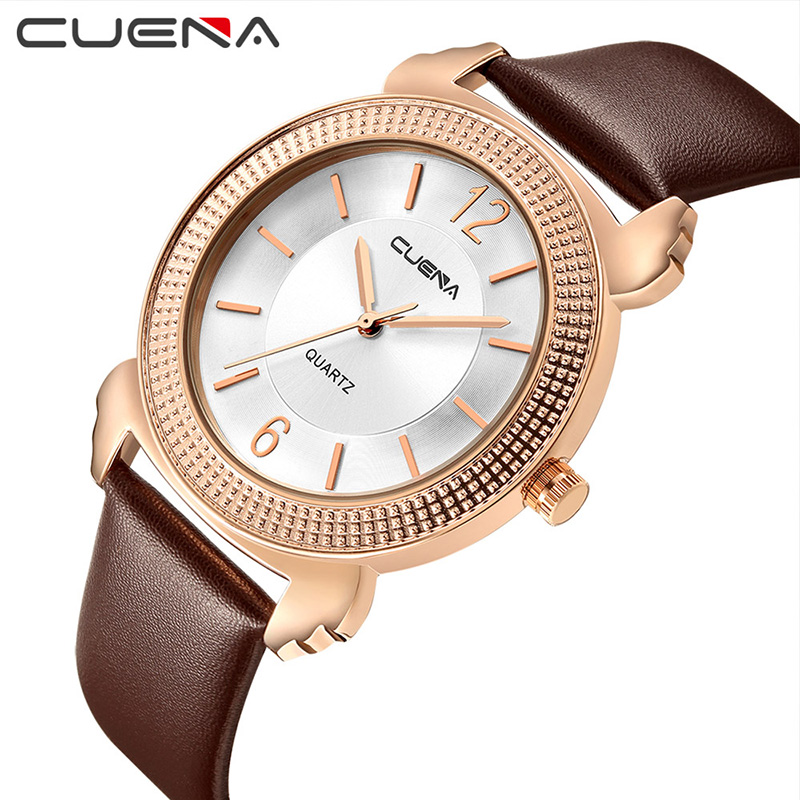 CUENA Fashion Dress Ladies Watches Top Brand Luxury Women Watch Quartz Wristwatches Waterproof Clock Relojes Relogio Feminino belbi fashion women quartz watch casual dress ladies watches top brand luxury wristwatches relojes feminino