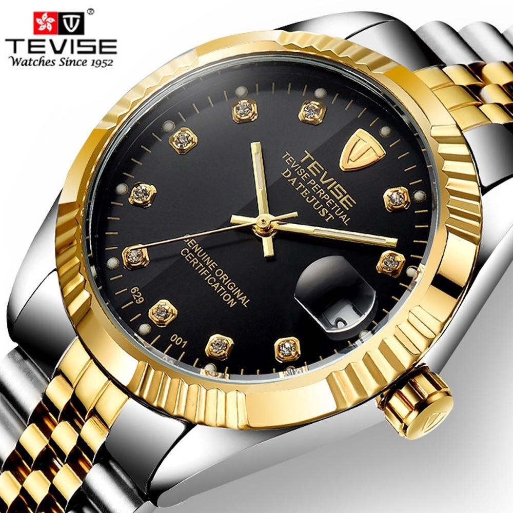 45747a2b3b2 Top Marca de Luxo Relógio Automático Homens Relógio Mecânico Luminosa À Prova  D  Água Esporte Relógio Ocasional Relogio Automatico masculino TEVISE em ...