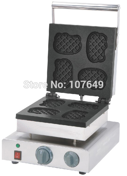 Hot Sale 110v 220V Commercial Use Electric Cat Waffle Maker Iron Machine Baker 220v waffle maker iron machine baker electric bar waffle machine wafer maker for sale