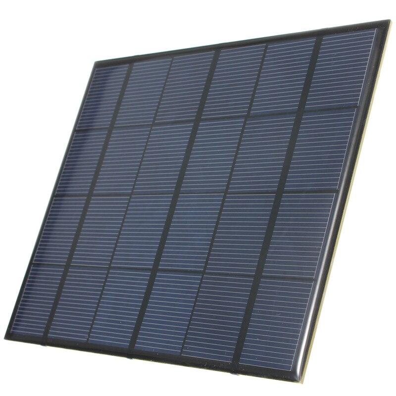 CLAITE 6V 3.5W Solar Panel Mini DIY Solar Charger 5V Phone Battery Charger 6V Monocrystalline Silicon Cell