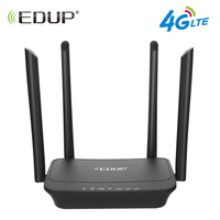 EDUP 300Mbps Wireless Wifi Router 802.11b/g/n Wi Fi Router 4G LTE FDD Mobile Hotspot Routers CPE with SIM Slot LAN Port