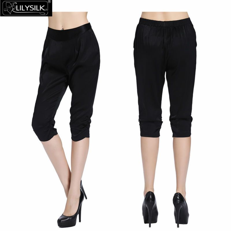 Popular Black Satin Capri Pants-Buy Cheap Black Satin Capri Pants ...