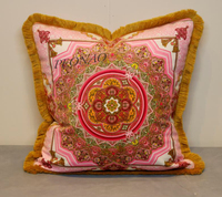 2017 new design home decorative cushions covers chair car seat pillows covers pink floral throw pillowcases
