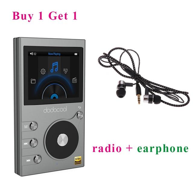 Dodocool MP3 プレーヤー 8 ギガバイト高解像度オーディオデジタルロスレスの Hi-Fi 音楽プレーヤーボイスレコーダー FM ラジオ # XJ3