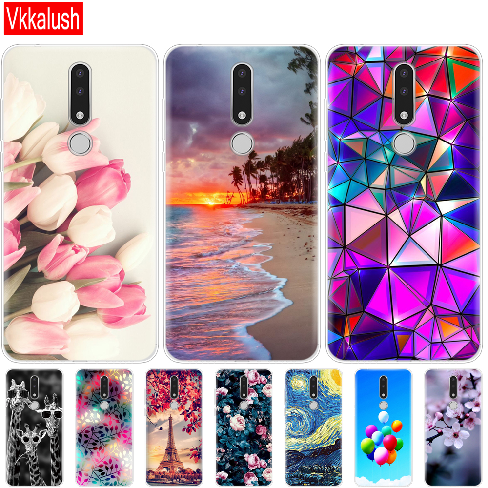 Phone Case For <font><b>Nokia</b></font> <font><b>3.1</b></font> <font><b>Plus</b></font> Case Cover funny Cartoon Silicon Soft Back Cover Nokia3.1 For <font><b>Nokia</b></font> <font><b>3.1</b></font> <font><b>Plus</b></font> 2018 Case Bag bock image