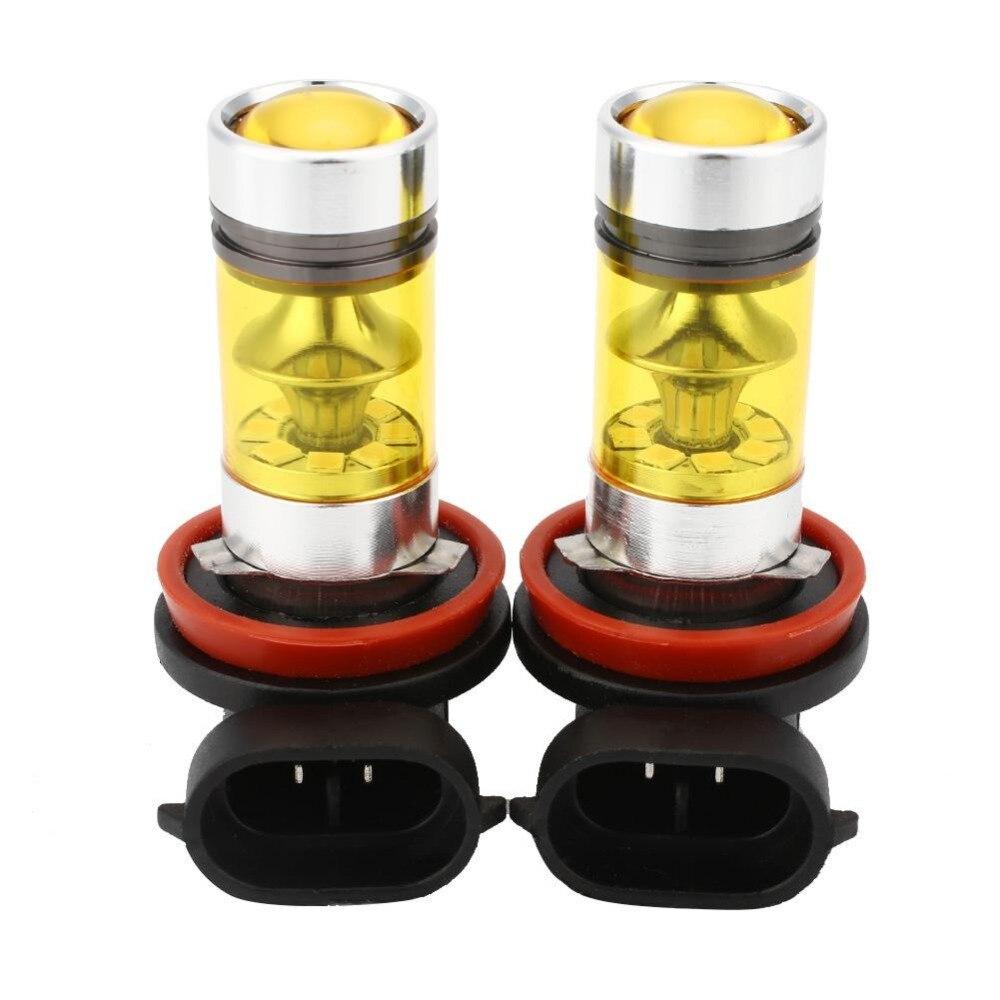 Автомобиль 2шт h8 Н11 4300К желтый светодиод Противотуманные фары дальнего света лампы накаливания Универсальные Противотуманные фары автомобилей дневного света автомобилей стайлинг