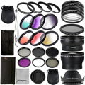 52mm Complete Lens Filter Set for Nikon D7100 D7000 D5300 D3300 D800 D600 LF131