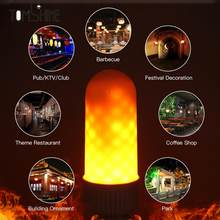 4w LED Fire Effect Light Bulb 2 Mode E27 E26 Base for Party Holiday Birthday new year Decorative Atmosphere flame Lamp bulb(China)