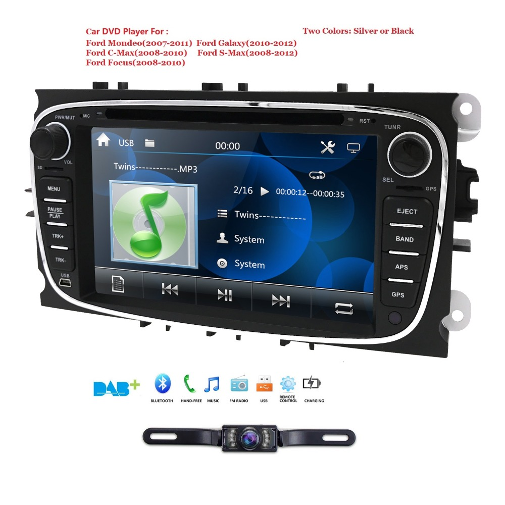 Car Multimedia Player Monitor GPS 2 Din car dvd player for FORD/Focus/S MAX/Mondeo/C MAX/Galaxy wifi car radio auto audio cam bt