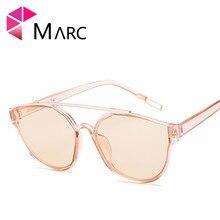 MARC cat eye sunglasses Mirror Plastic Oculos sol personality P rice nail Fashion glasses hot Trend