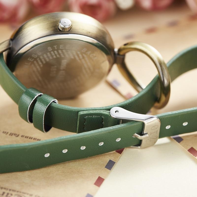 Miss Keke Clay Śliczne Vintage Retro Królik Zegar Złoty Kobiety - Zegarki damskie - Zdjęcie 5