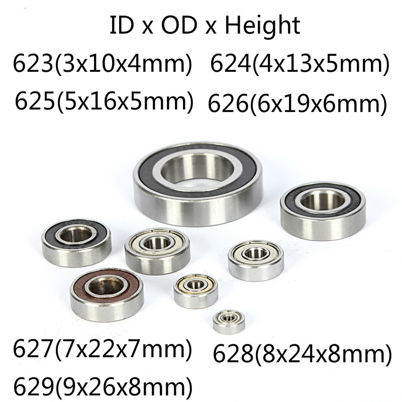 Deep Groove Ball Bearing Metal Shielded Miniature Mini Small  Ball Bearing 623 624 625 626 627 628 629