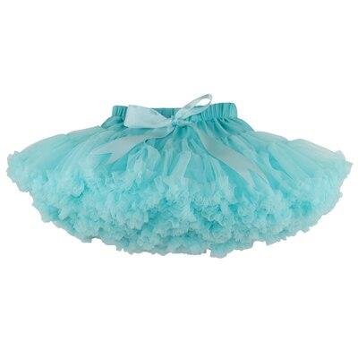 ; пышные шифоновые юбки-американки для малышей; 21 цвет; юбки-пачки для девочек; фатиновая юбка принцессы для танцевальной вечеринки; Нижняя юбка; - Цвет: mint green