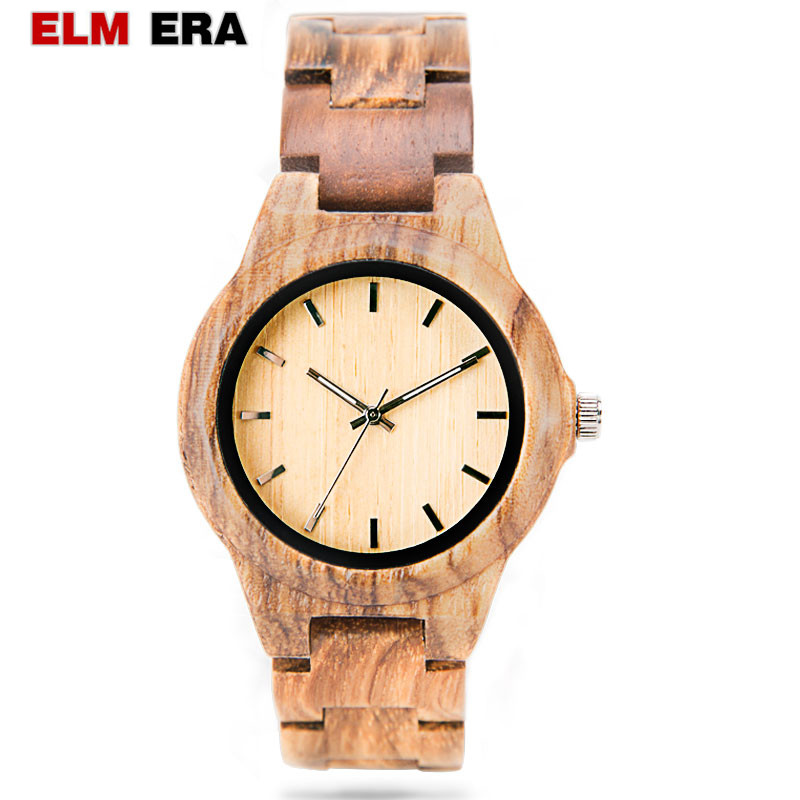 ELMERA wooden watches womens relojes reloj mujer wood watch women 39 s bracelet watch ladies brand watches relogio feminino in Women 39 s Watches from Watches