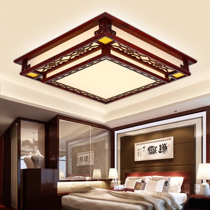 lmpara de techo de madera