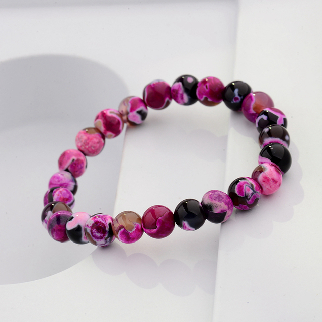 DOUVEI 8mm Genuine Colorful Natural Tourmaline Bracelets For Women Lady Charm St
