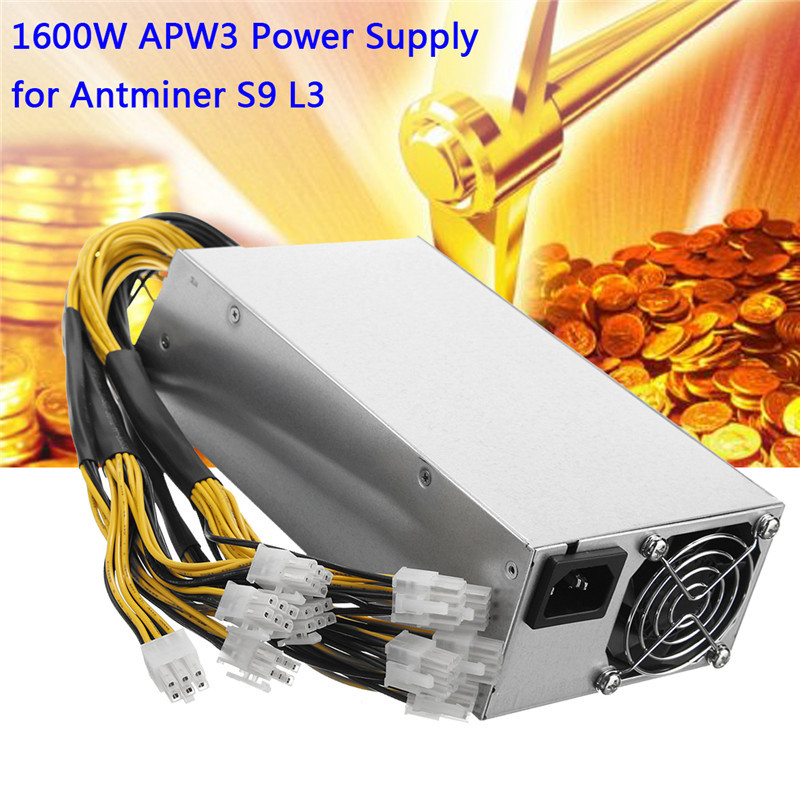 1600 Watt Miner Power Supply Mining Machine 1600W APW3 PSU Power Supply For AntMiner Server BTC