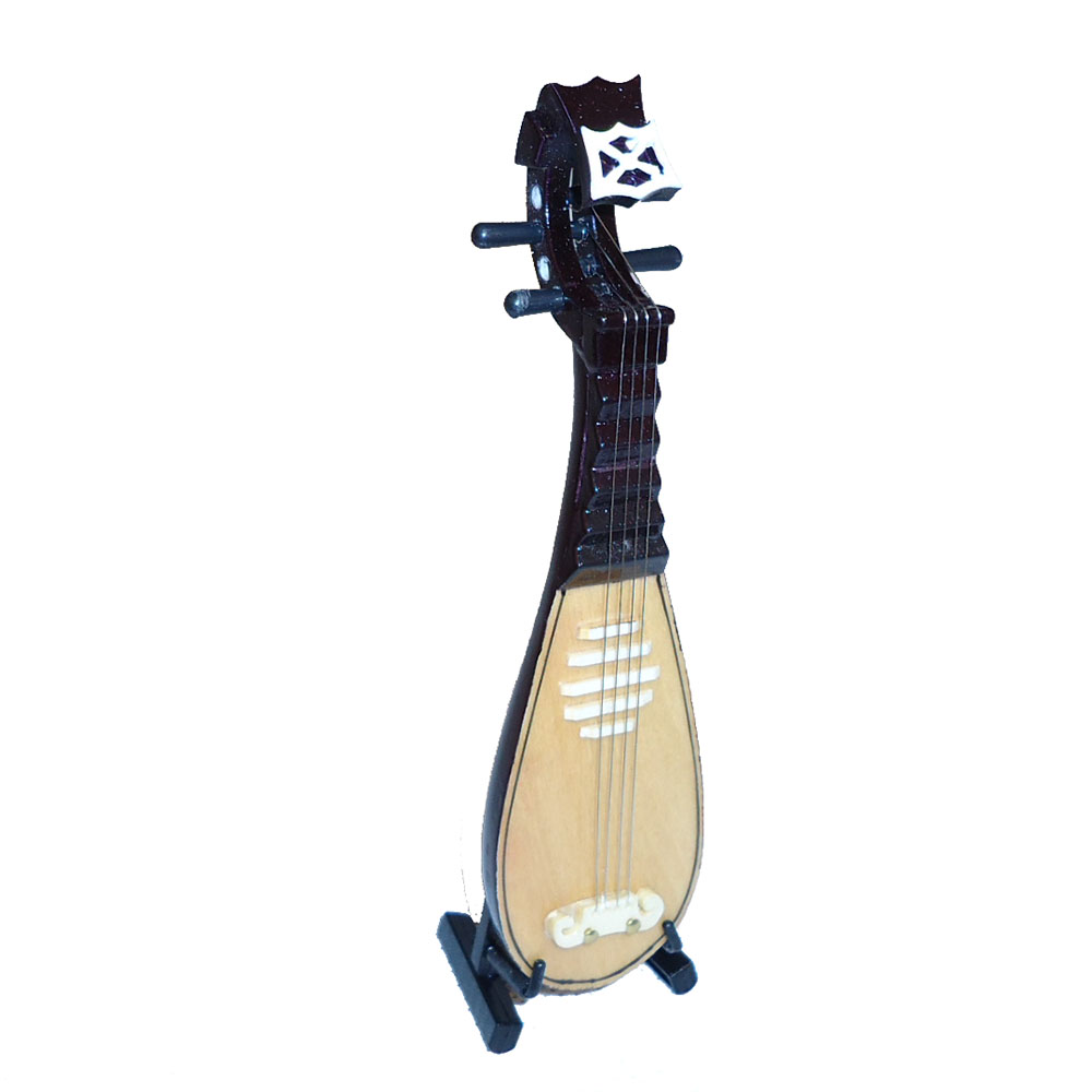 Musical instruments ornaments - Chinese Style Mini Musical Instrument Pipa Ornaments Instrument Model Funny Music Toys Home Decor Collection Birthday Gifts