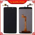 Pantalla lcd táctil digitalizador asamblea para el ídolo alcatel ot6045 6045 6045y 6045f 3 negro de alta calidad del teléfono móvil lcd
