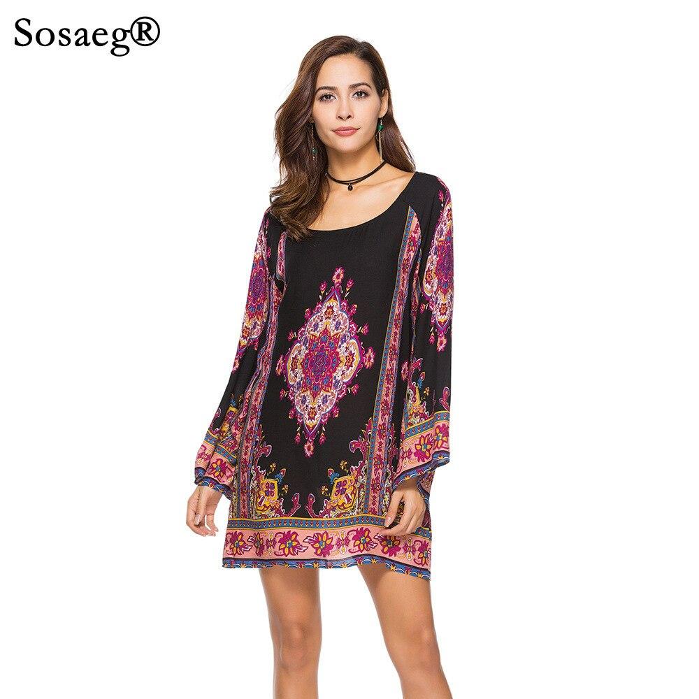 4c64c6930887 Sosaeg Spring European American Antique Baroque Printed Summer Casual  Chiffon Dress Girl Women s Sexy Floral Print
