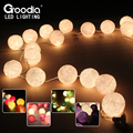 20Ball Cotton Ball Christmas Fairy String Lights,Home Decoration Fiestas Lamp,Garland Strip lighting Wedding luminarias,110/220V