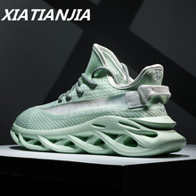 Mens Sneakers Summer Mens Shoes Breathable Flying Woven Luminous Shoes Men Mans Footwear Casual Outdoor Zapatillas Hombre