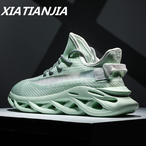 Image 1 - Mens Sneakers Summer Mens Shoes Breathable Flying Woven Luminous Shoes Men Mans Footwear Casual Outdoor Zapatillas Hombre