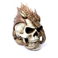 Alchemy Gothic Skull Loong Resin Skull European style Luxury Home Decor Office Toy Wine Cabinet Living Room Halloween Gift M875