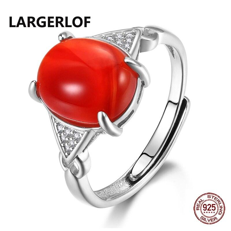 LARGERLOF Silver 925 Ring Women Agate Ring Fine Jewelry Women 925 silver Jewelry Ring Female RG41029 кольцо oem r111 925 925 amwajeda dymampta ring