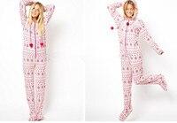 [Wiki's winkel] Volwassen vrouw Euro Maat Hooded & Betaalde Pyjama Katoen Fleece Onesies S-L