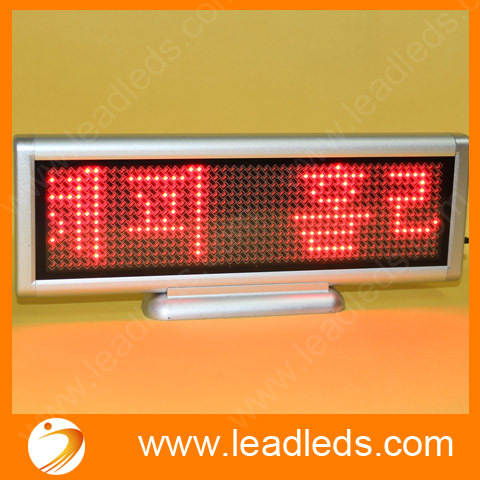 4sets/lot 22x7cm Red LED display USB input rechargeable LED sign LED Programmable Message Sign Free shipping
