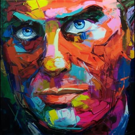 Man Palette Knife Painting handmade portrait paintings face Painting for wall decor oil painting stretcher for modern house