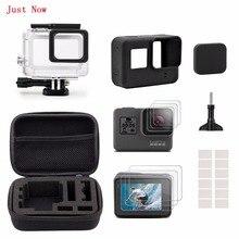 Только сейчас черный starter kit Футляр Малый + Корпус чехол + Screen Protector + крышка объектива + Силиконовый защитный чехол для GoPro Hero5