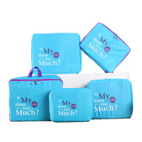 5 Pcs Zippered Storage Bags Luggage Bag Tidy Underwear Cosmetics Travel Organizer Household Clothes Container Divider