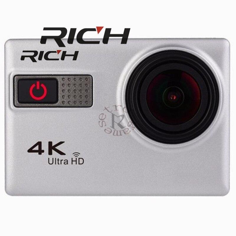 Caméra d'action riche F68 F68R Novatek 96660 caractéristiques vocales 170D grand Angle 4 K 2 pouces HDMI étanche Go Pro Style caméra de Sport